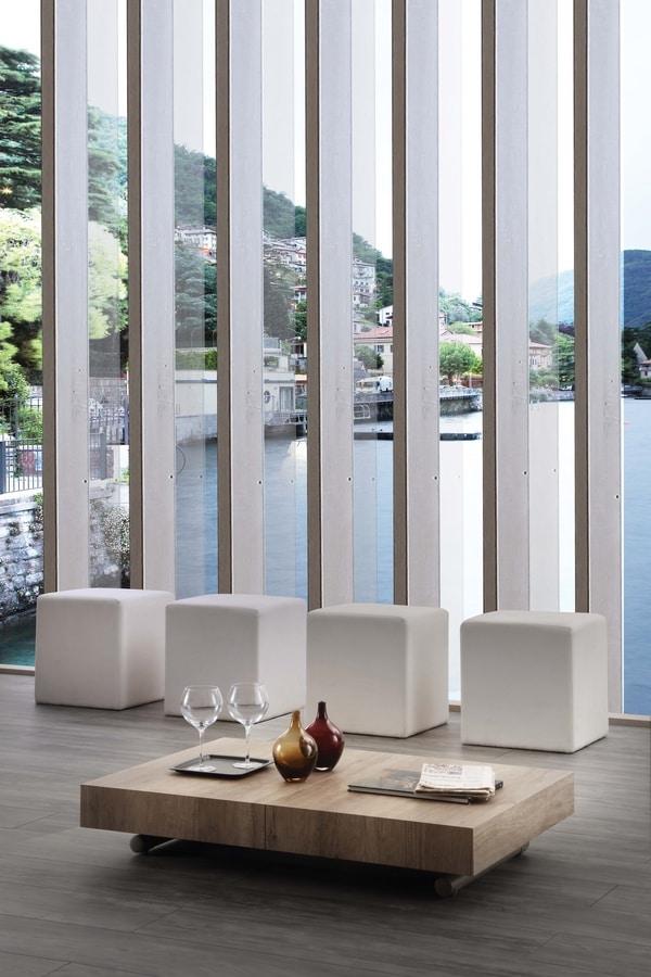 Tavolino trasformabile in tavolo da pranzo regolabile in - Altezza tavolo da pranzo ...
