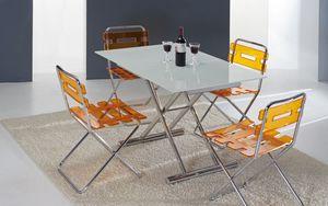 Art. 760 Lift Cristal, Tavolo due in uno, da salotto e da pranzo