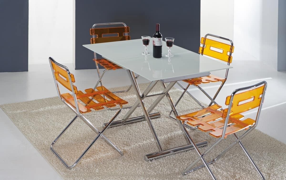 Tavolo due in uno da salotto e da pranzo idfdesign - Altezza tavoli da pranzo ...