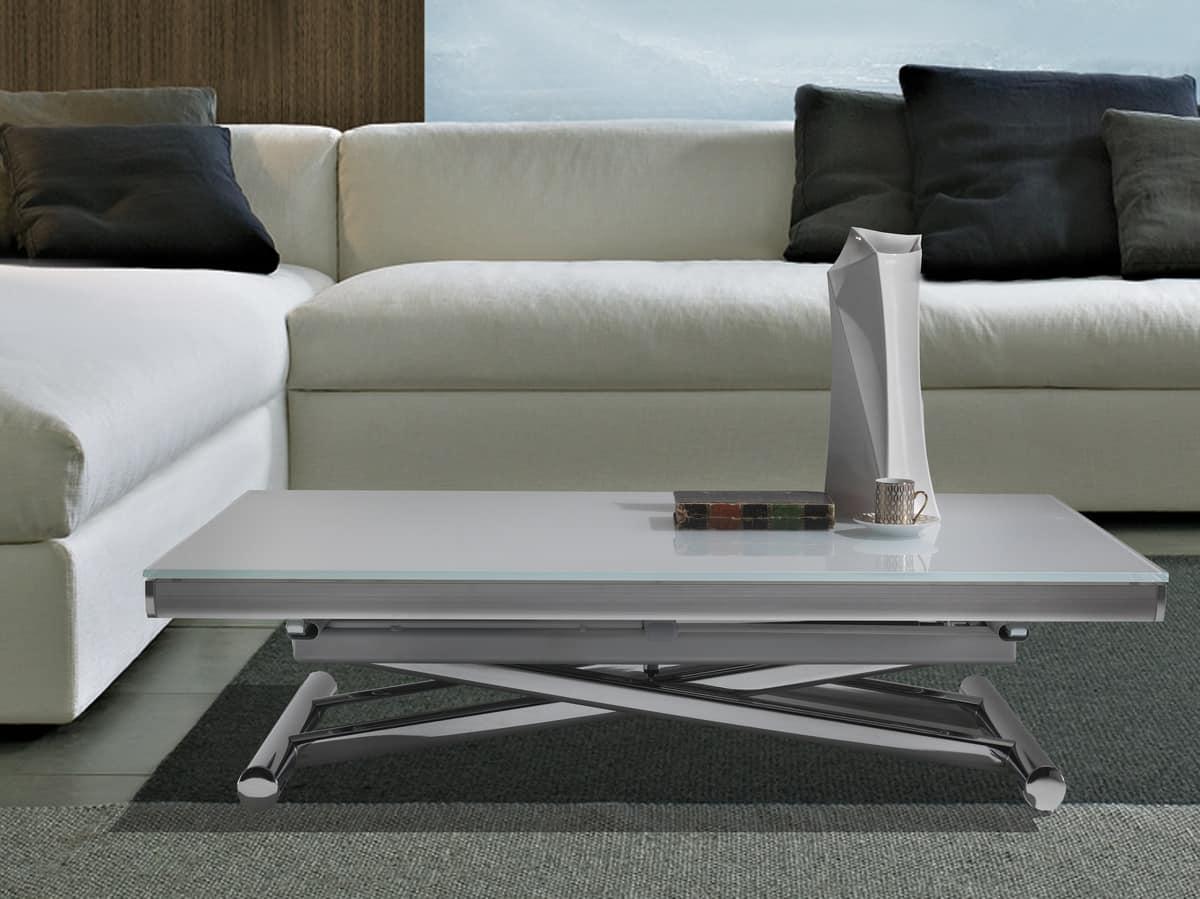 Tavolo trasformabile con altezza regolabile idfdesign - Altezza tavolo da pranzo ...