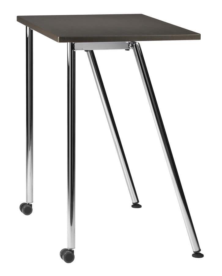 Tavolino Con Le Ruote.Tavolino Con Base In Metallo Con Ruote Per Scuole E Uffici