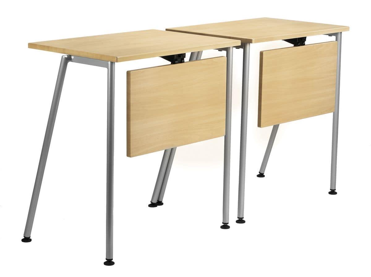 GIKO 750, Tavolino semplice rettangolare con base in metallo