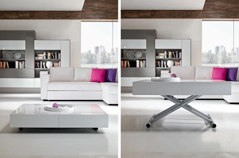 Tavolino trasformabile regolabile in altezza per albergo for Altezza tavolo pranzo