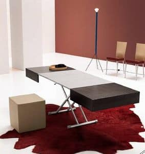 Itaca, Tavolino trasformabile, regolabile in altezza, per albergo