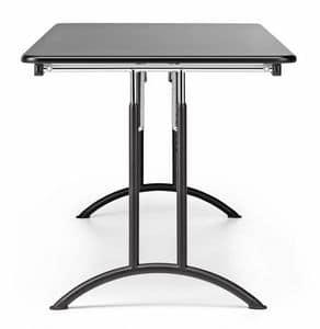 KOMBY 931, Tavolo pieghevole in metallo e laminato, per conferenze