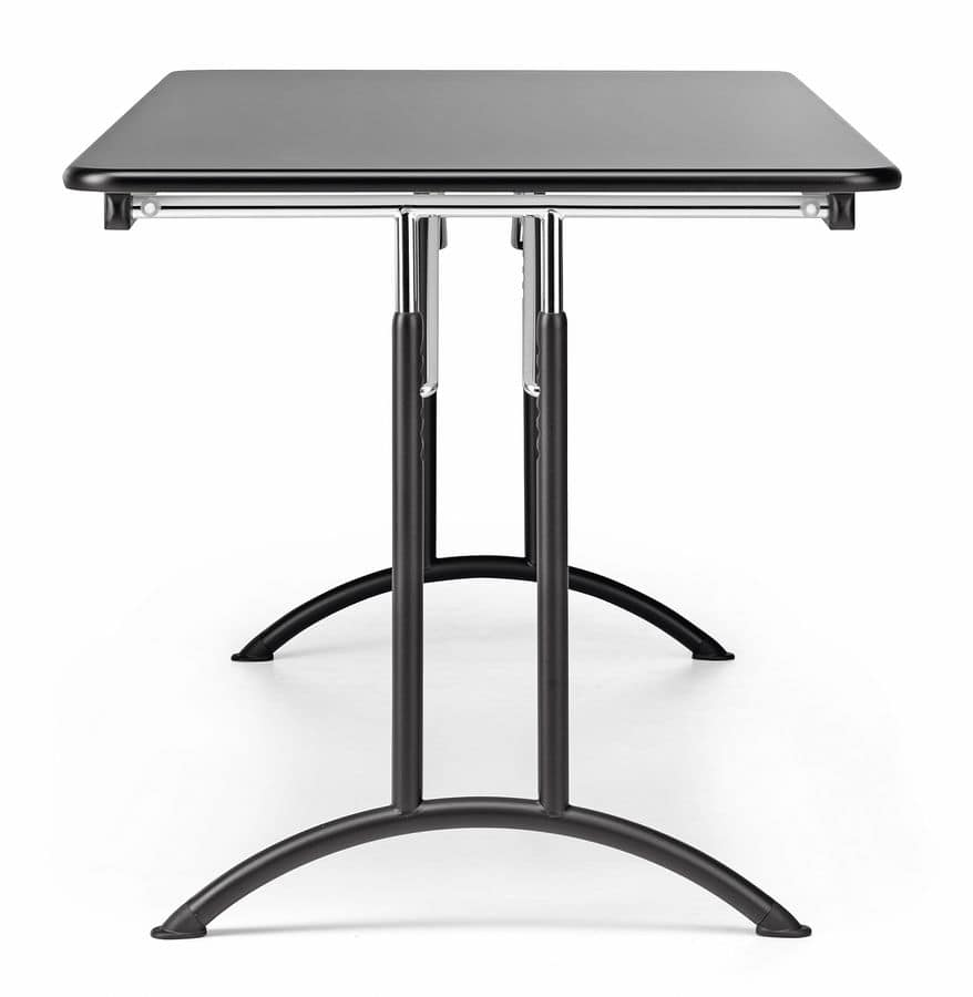 Gambe Metalliche Pieghevoli Per Tavoli.Tavolo Pieghevole In Metallo E Laminato Per Conferenze Idfdesign