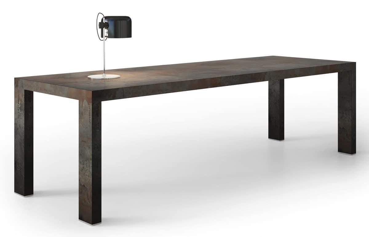 Tavolo rettangolare realizzato a mano in stile moderno for Tavoli living moderni