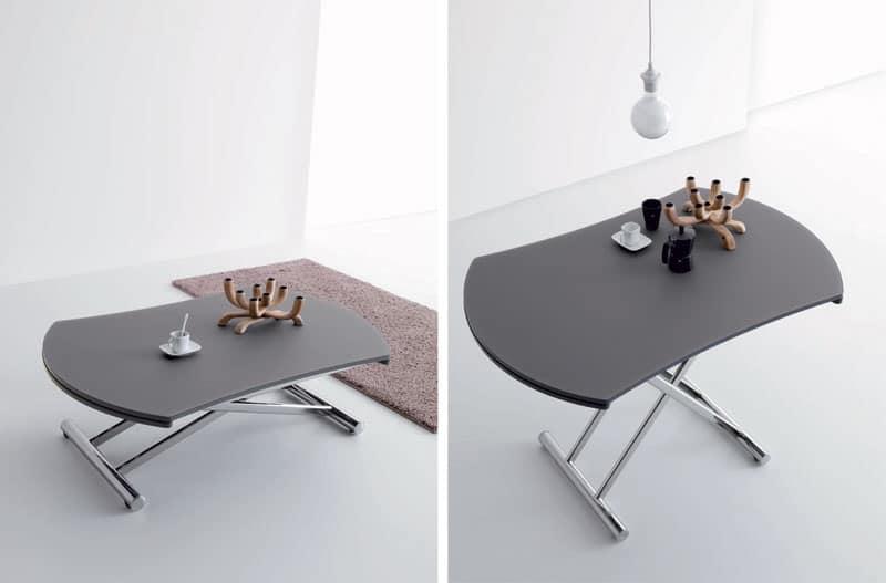 Tavolo con altezza variabile allungabile per soggiorno for Tavolo alzabile