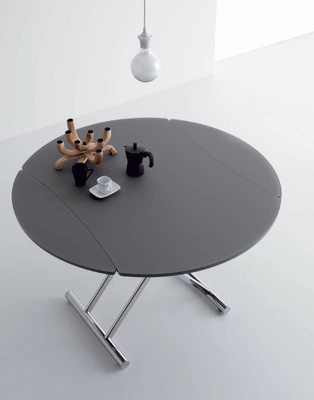Simple Glass 460, Tavolo Con Altezza Variabile, Allungabile, Per Soggiorno