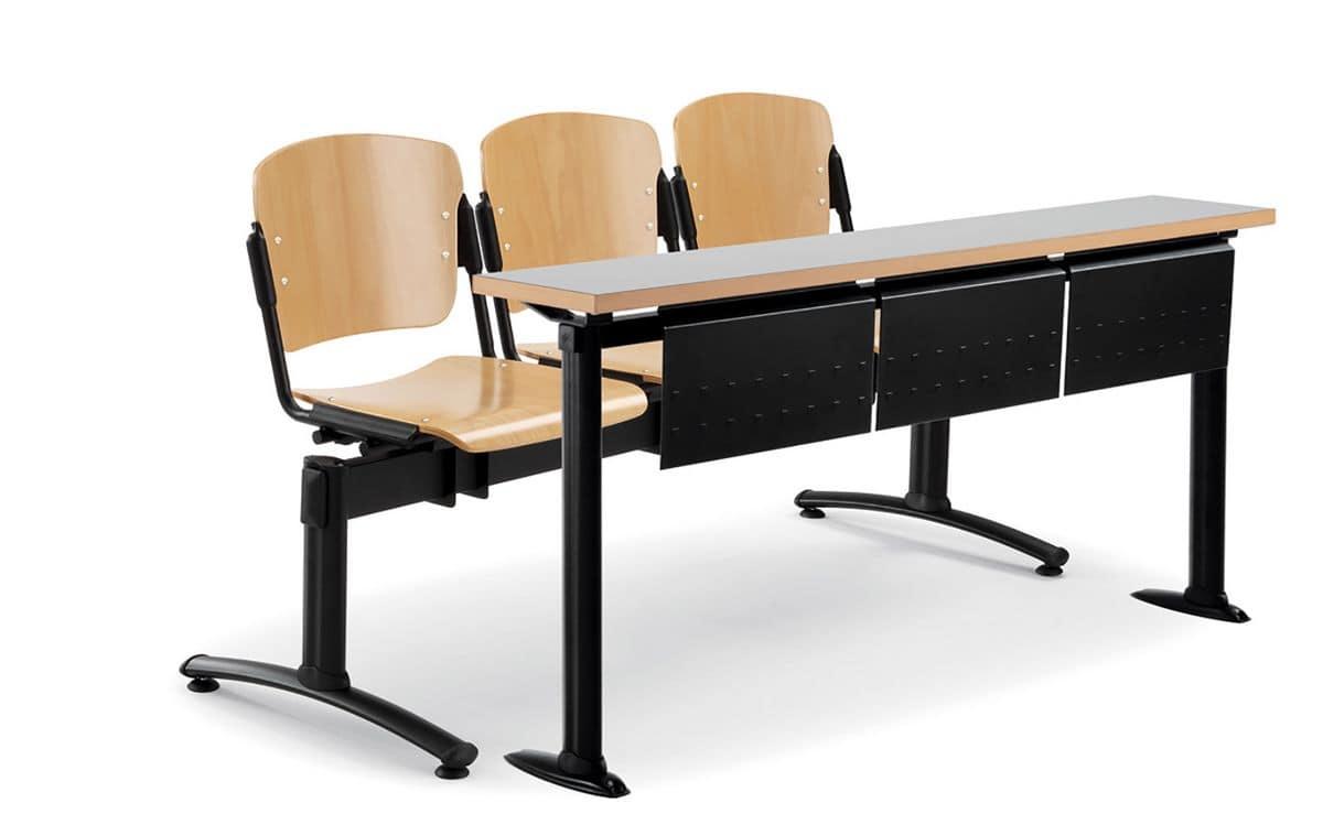 Tavoli in legno metallo per universit idfdesign for Tavoli amazon