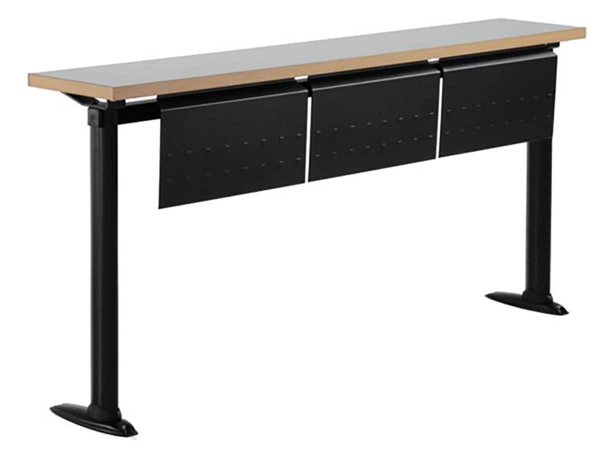 Tavoli in legno metallo per universit idfdesign for Tavolini per ufficio