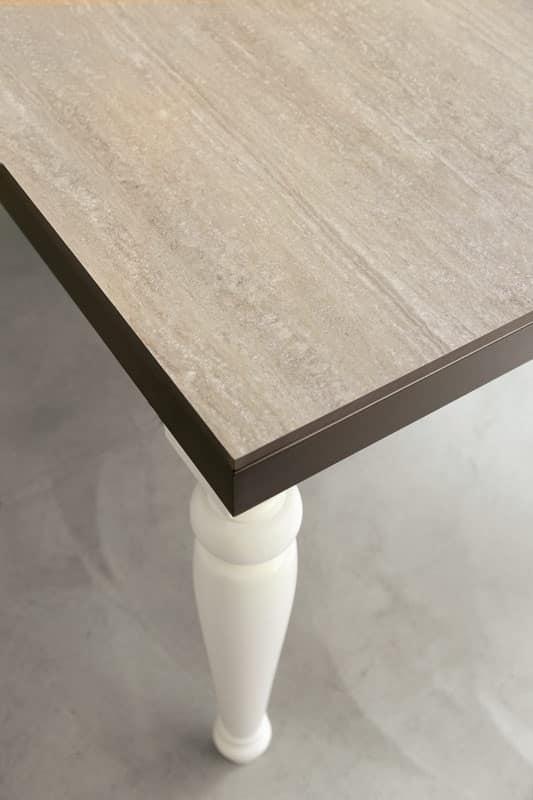 dl60 lisbona, Tavolo con struttura metallica, per sala da pranzo
