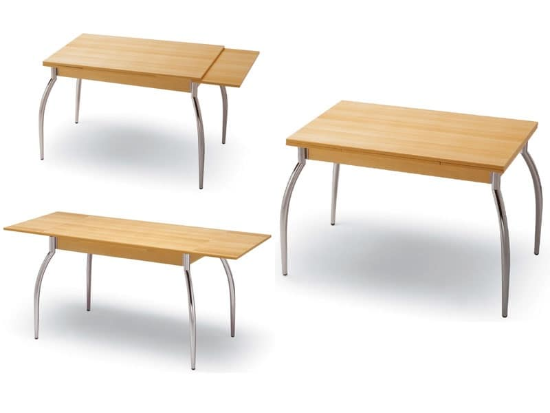Tavoli piano lavabile soggiorno idfdesign for Tavolo 70x110 allungabile