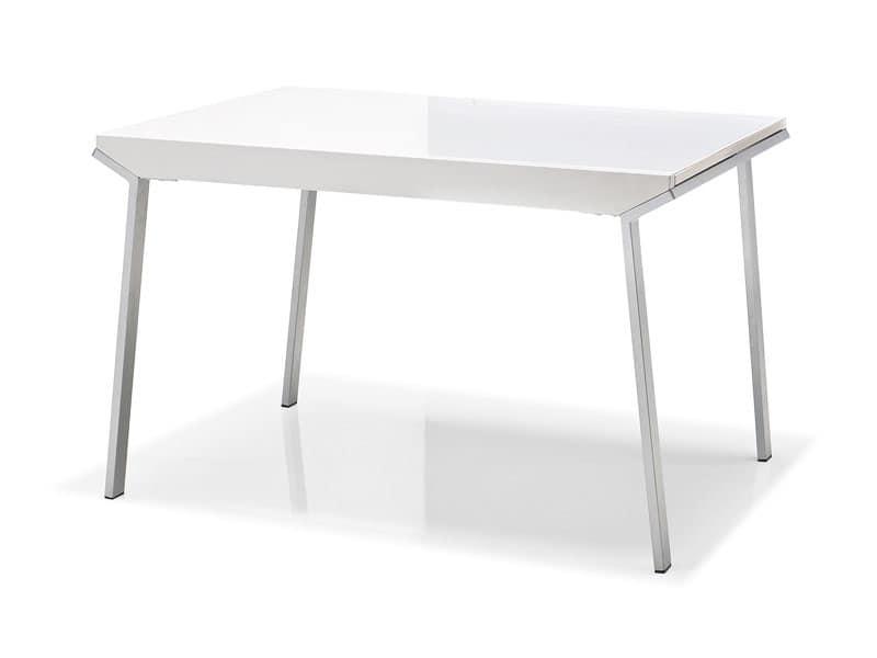 Modern tavoli base in metallo sala riunioni idfdesign - Tavolo 70x70 allungabile ...