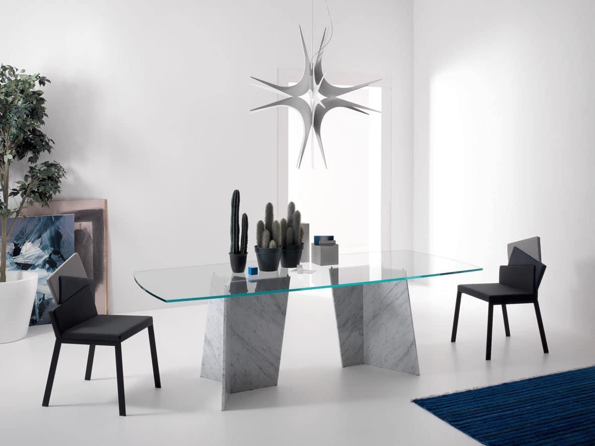 Tavolo Pranzo Tavolo Base Marmo Carrara Casa Moderna Sala Da Pranzo  #3F6D78 1200 900 Tavoli Da Pranzo Quadrati Moderni