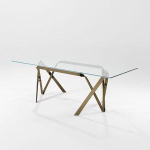 Immagine di Compasso, tavolo-piano-in-vetro