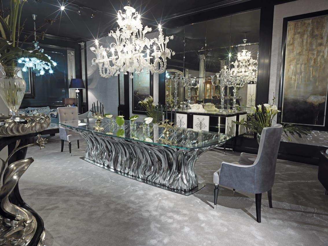 Tavolo di lusso in cristallo | IDFdesign