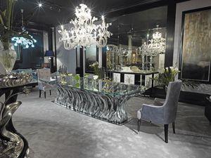 FICUS Tavolo, Tavolo di lusso in cristallo
