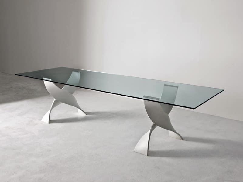 Mobili lavelli tavoli da pranzo in vetro for Tavoli pranzo cristallo