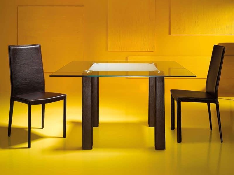 Tavoli tavoli moderni legno vetro idf for Tavoli eleganti