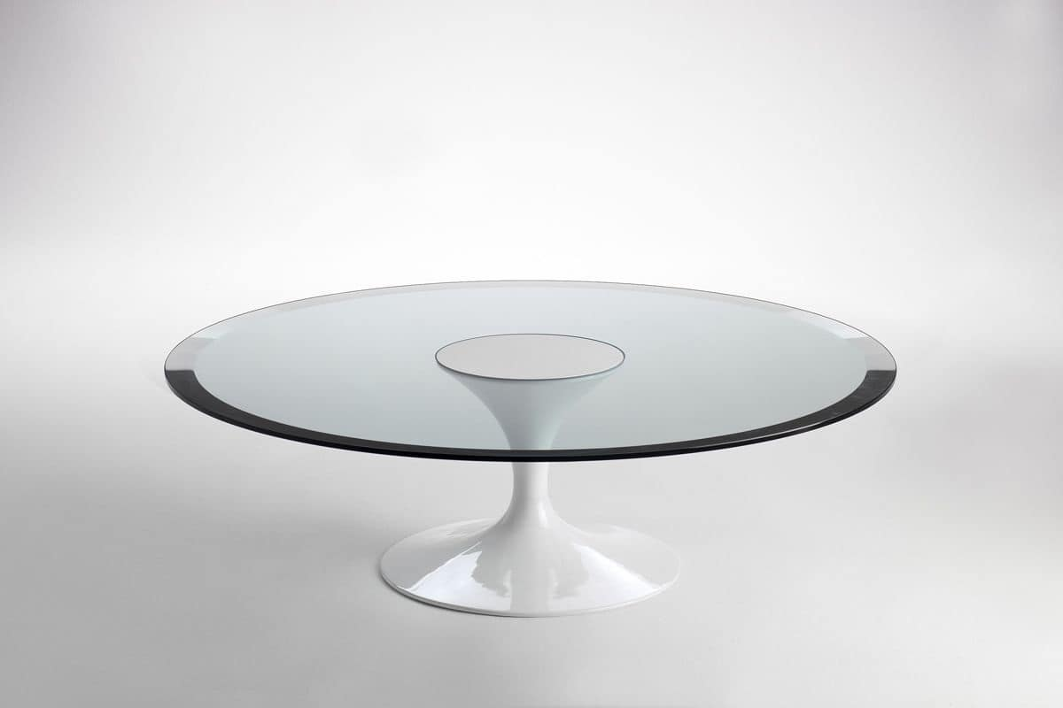Rotondo Per La Cucina Tavolo Piano In Vetro Per La Sala Da Pranzo #60696B 1200 800 Tavolo Sala Da Pranzo Vetro