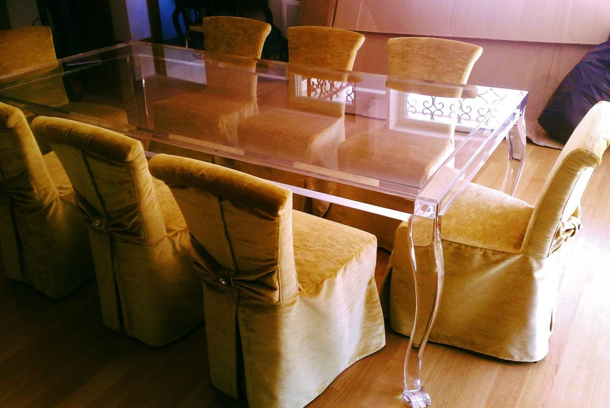 Tavoli Da Pranzo Con Piano Vetro : HOME P08a Classico Contemporaneo  #79400F 1200 802 Tavoli Da Pranzo Con Piano Vetro