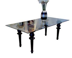 XC-01, Tavolo pranzo con piano in vetro