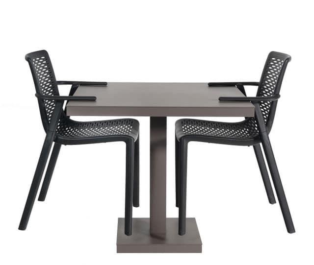 Tavolo da pranzo in alluminio verniciato anche per uso esterno idfdesign - Tavoli in alluminio per esterni ...