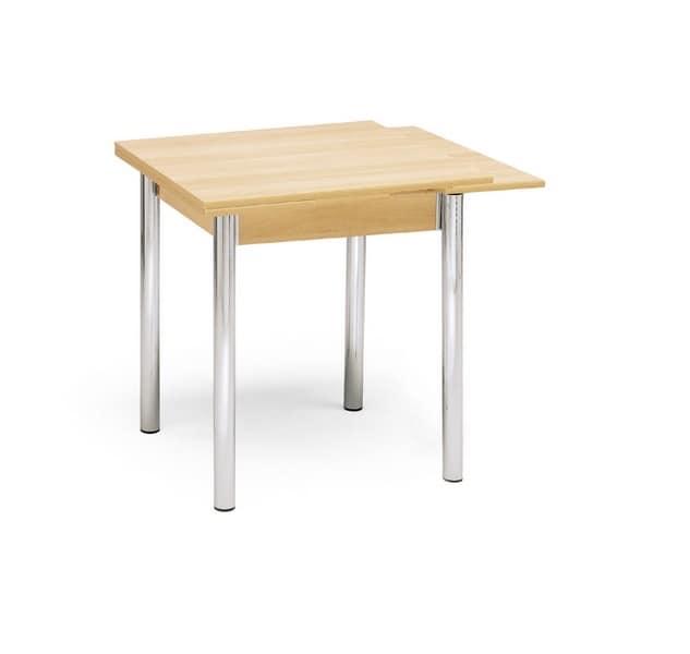 Tavolo quadrato allungabile adatto per la cucina idfdesign - Tavolo cucina quadrato ...