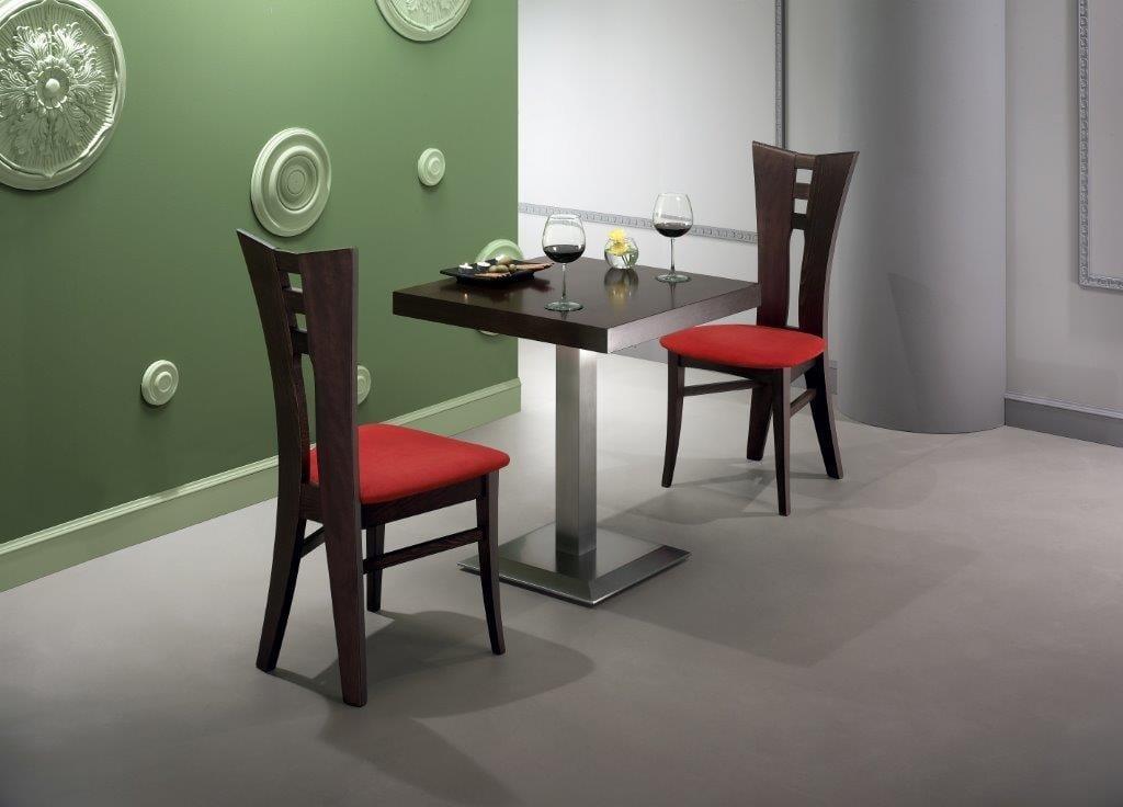 Tavolo con piano quadrato impiallacciato idfdesign
