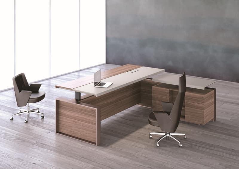 Tavoli uffici direzionali struttura metallica piano in legno e