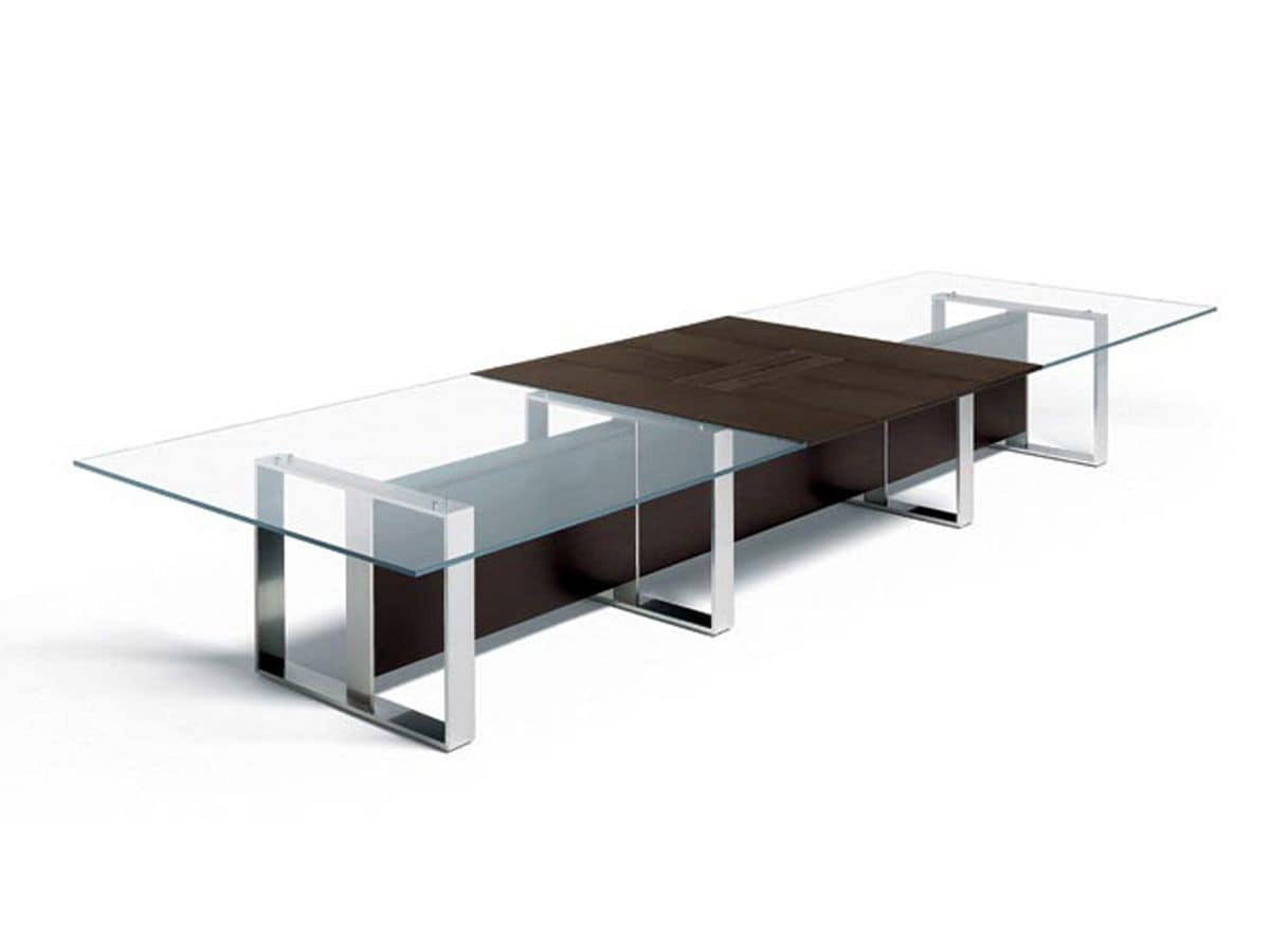 Tavolo ufficio per sala riunione idfdesign for Scrivanie direzionali moderne