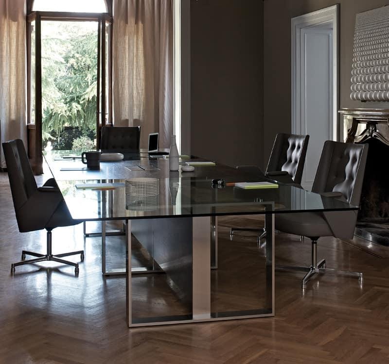 Tavolo ufficio per sala riunione idfdesign for Arredo sala riunioni