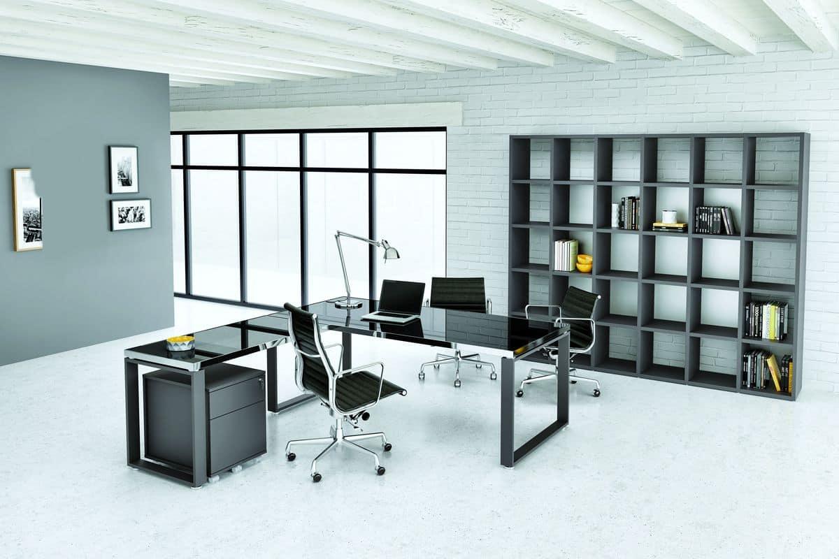 Ufficio Moderno Design : Tavolo ad angolo per ufficio moderno con nuove finiture idfdesign