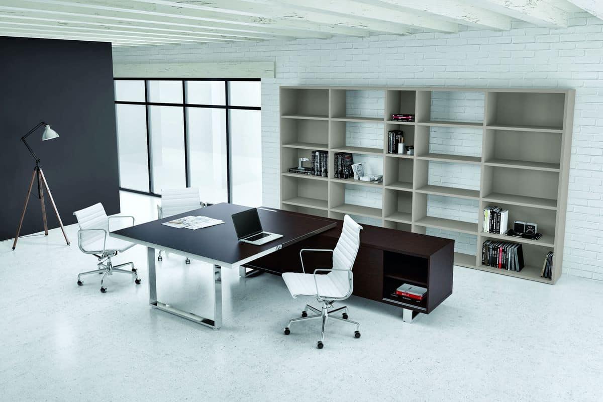 Ufficio Stile Moderno : Tavolo grande per ufficio presidenziale in stile moderno idfdesign