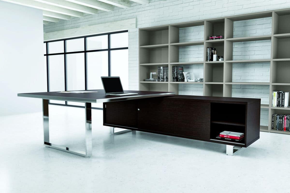 Tavolo grande per ufficio presidenziale in stile moderno for Design ufficio srl
