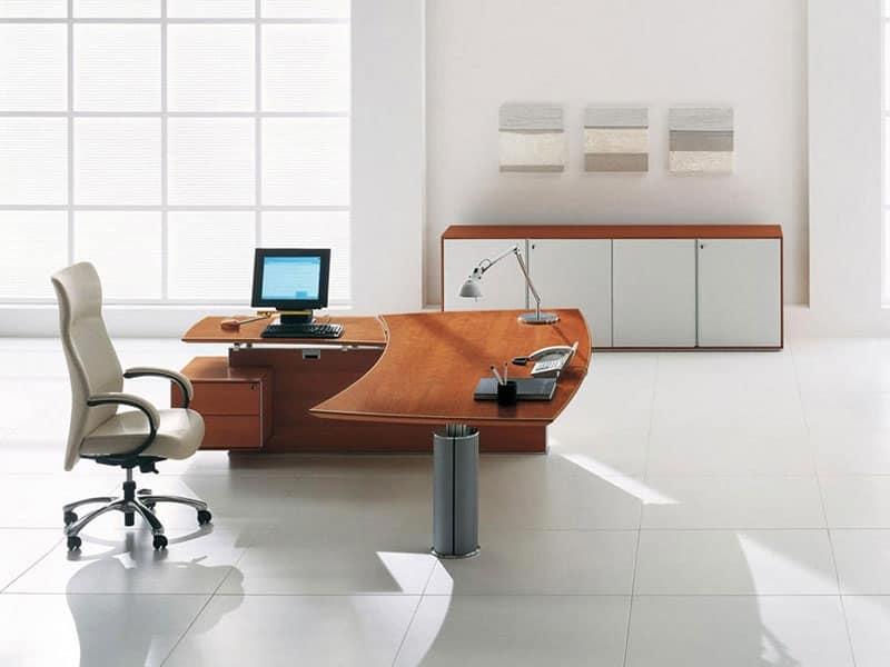 Tavoli direzionali reception idfdesign for Scrivanie direzionali