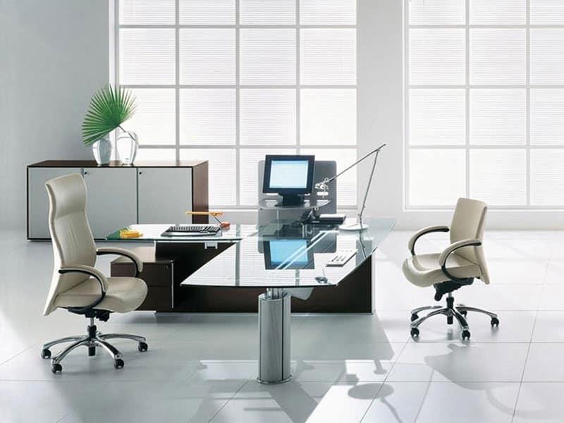 Tavoli direzionali reception idfdesign for Reception scrivania