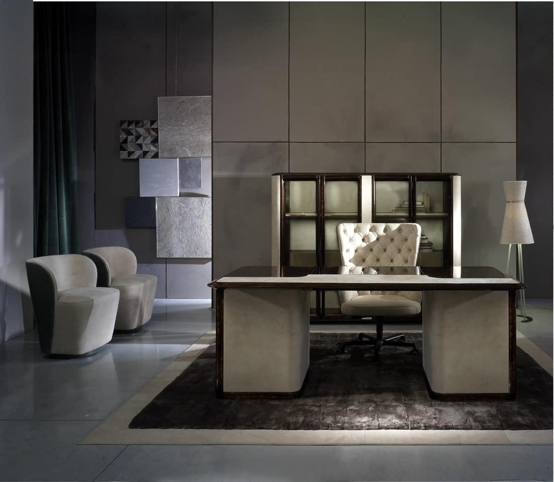 Elegante scrivania per ufficio direzionale idfdesign for Scrivanie per ufficio