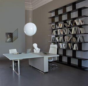 Scrivanie direzionali moderne struttura in metallo piano for Scrivanie direzionali di design