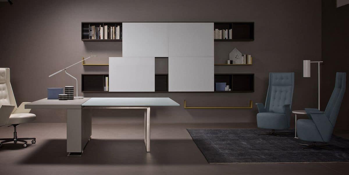 Tavolo grande per sale riunioni moderne idfdesign for Scrivanie ufficio moderne