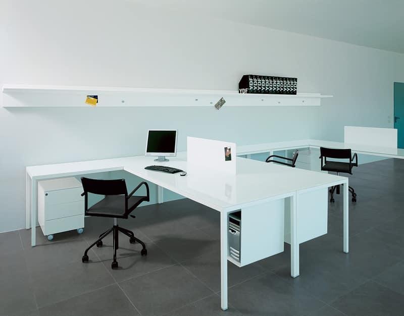 Tavolo ufficio operativo e direzionale postazione for Ufficio direzionale design