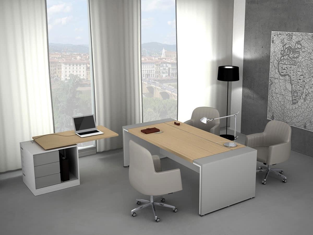 Scrivanie direzionali uffici idfdesign for Design ufficio scrivania
