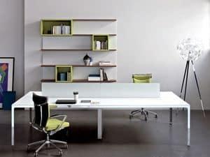 scrivanie direzionali moderne struttura in metallo piano in legno idfdesign. Black Bedroom Furniture Sets. Home Design Ideas