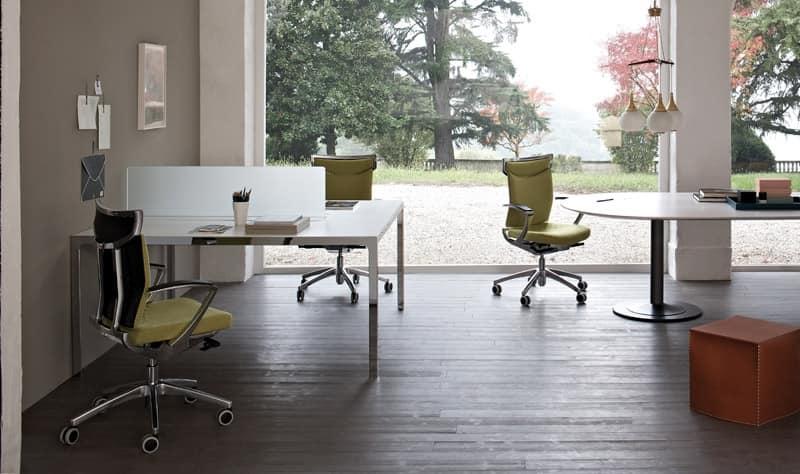 Posizione Scrivania Ufficio : Scrivania operativa ufficio sistema tavoli a due postazioni