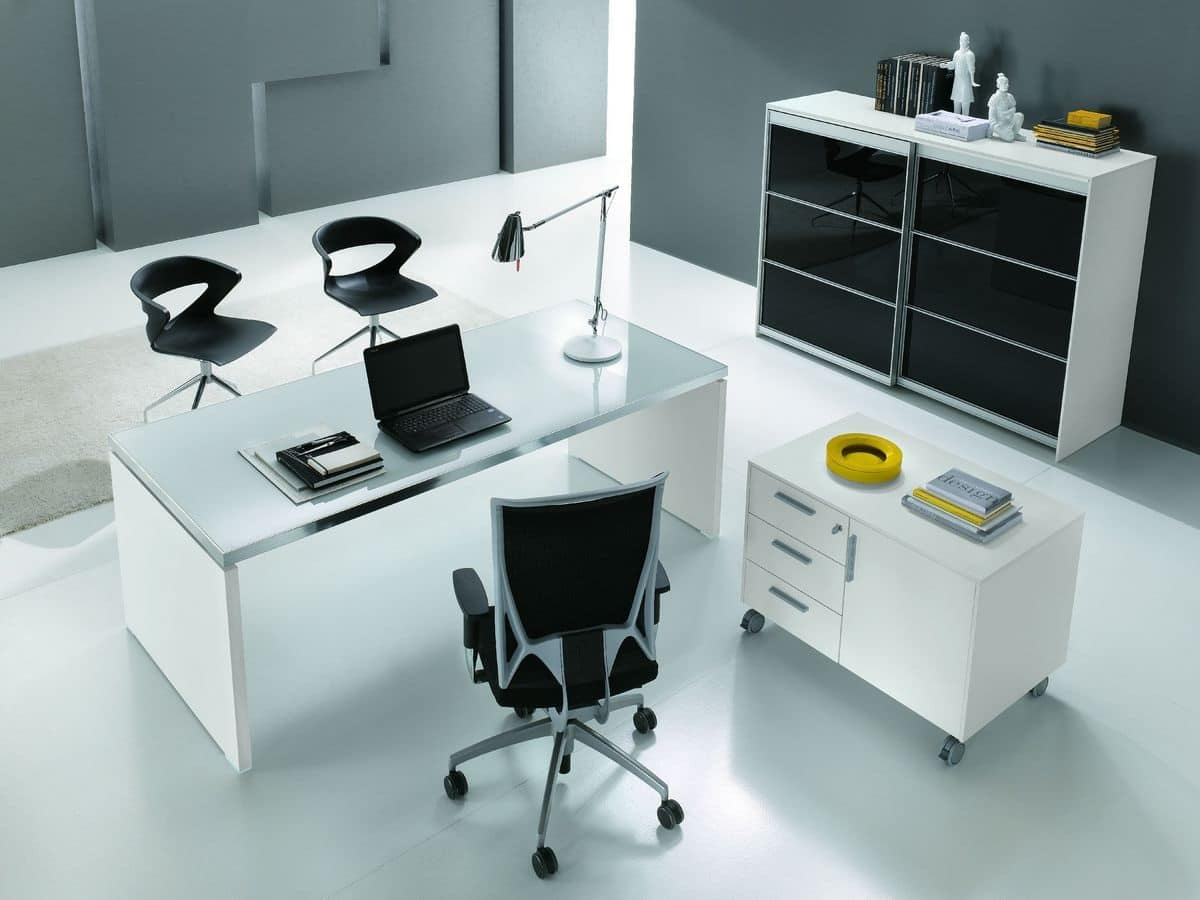 Scrivania Ufficio Sagomata : Vendita scrivanie operative per ufficio prezzi in offerta