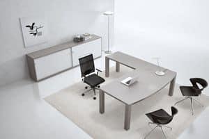 Tavoli tavoli ufficio moderno presidenziali idfdesign for Scrivanie ufficio moderne