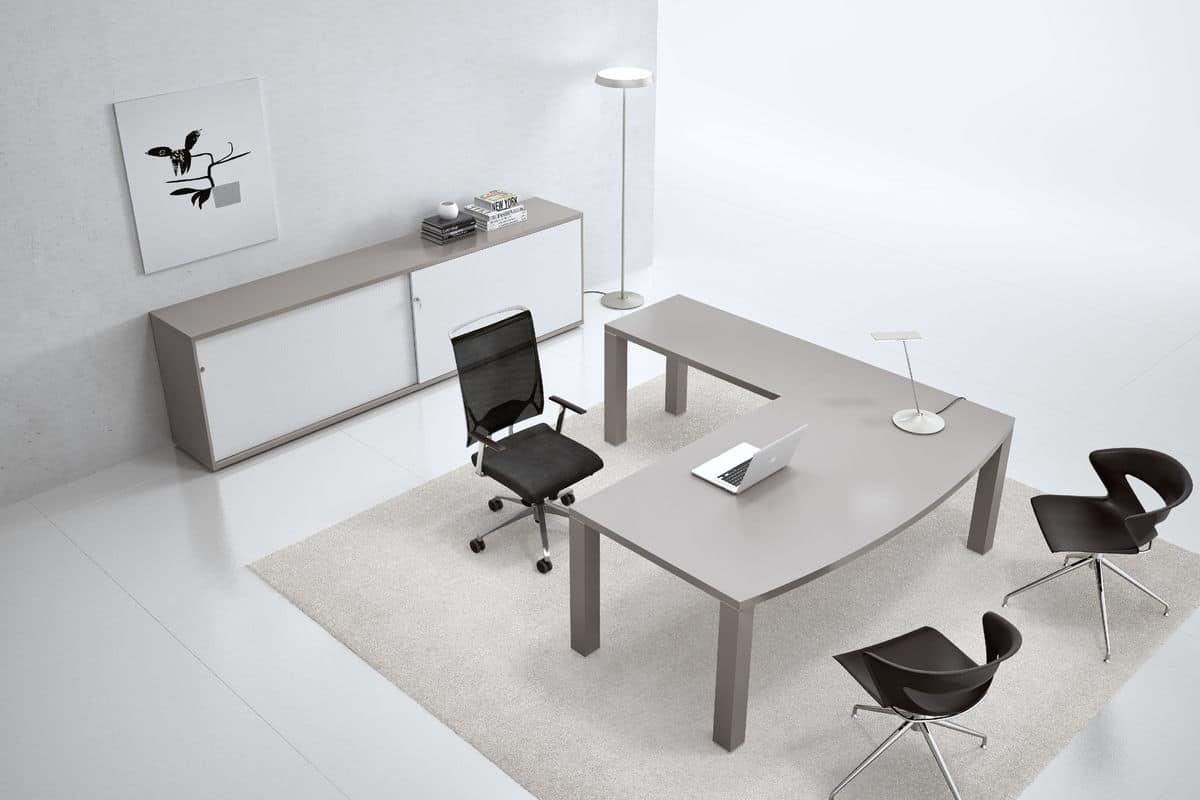 Arredamento per uffici moderni scrivania con contenitore for Uffici moderni