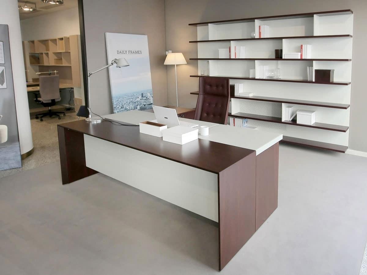 Scrivania Ufficio Elegante : Elegante scrivania da ufficio direzionale arredo ufficio dalle