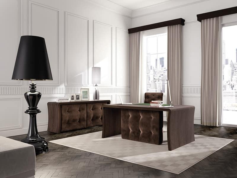 Tavolo per ufficio direzionale in legno rovere capitonn for Ufficio direzionale design